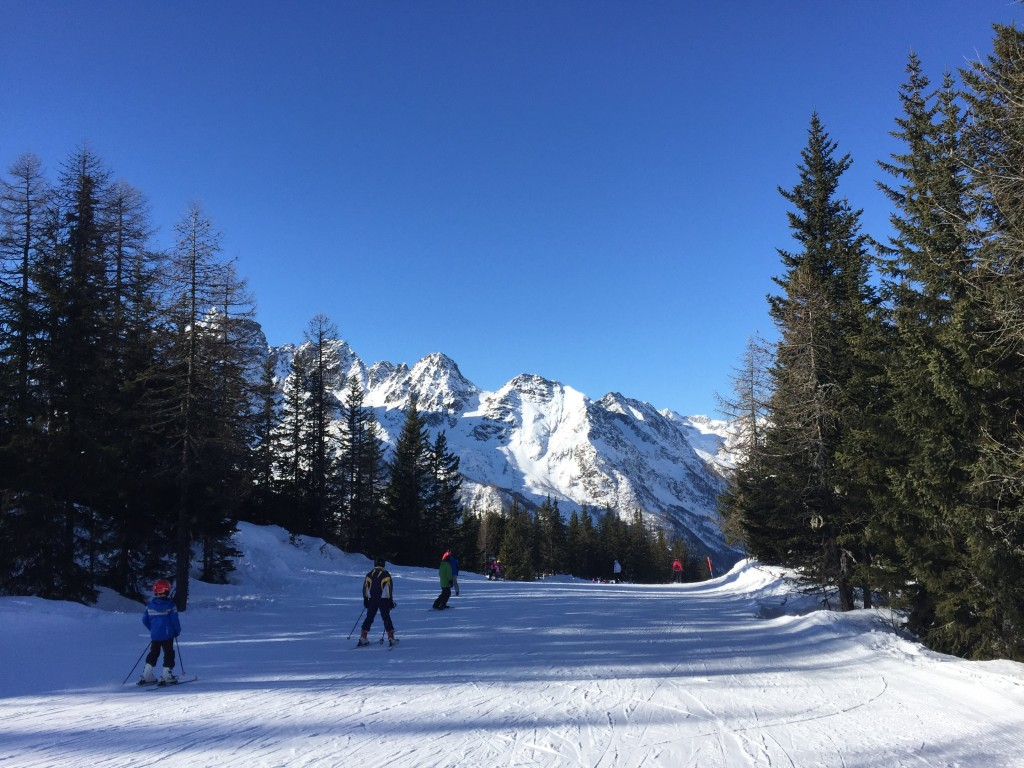 Skiing in Valmalenco, Valtellina, Italy