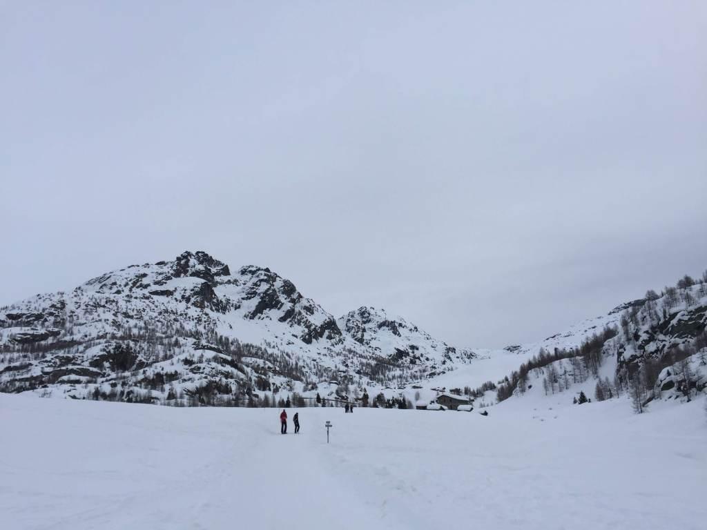 Valmalenco. winter hiking in Valtellina, Italy.