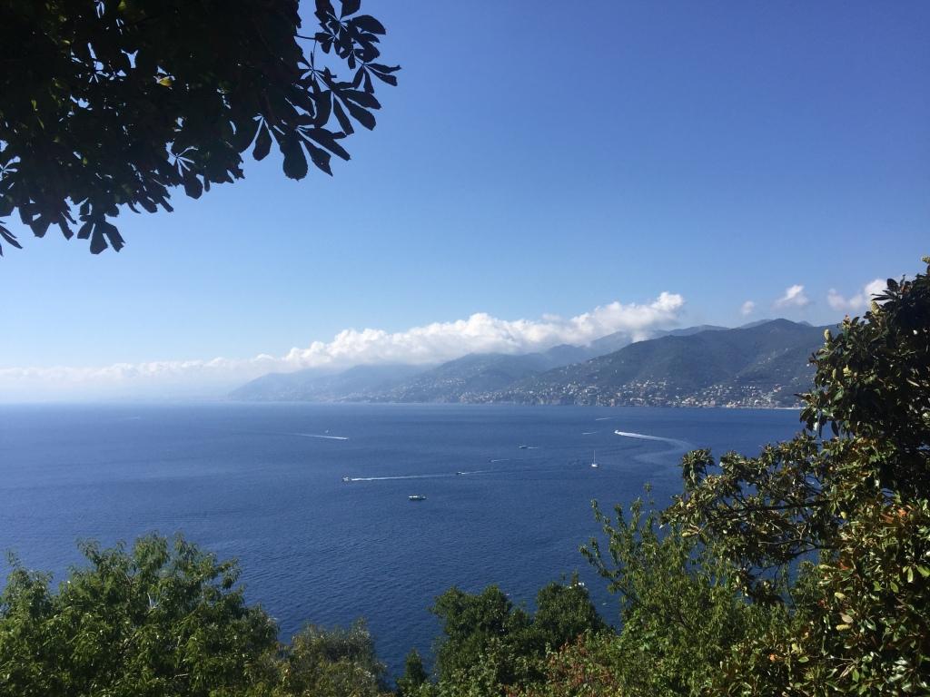 View from San Rocco, Camogli on hike to Punta Chiappa and San Fruttuoso