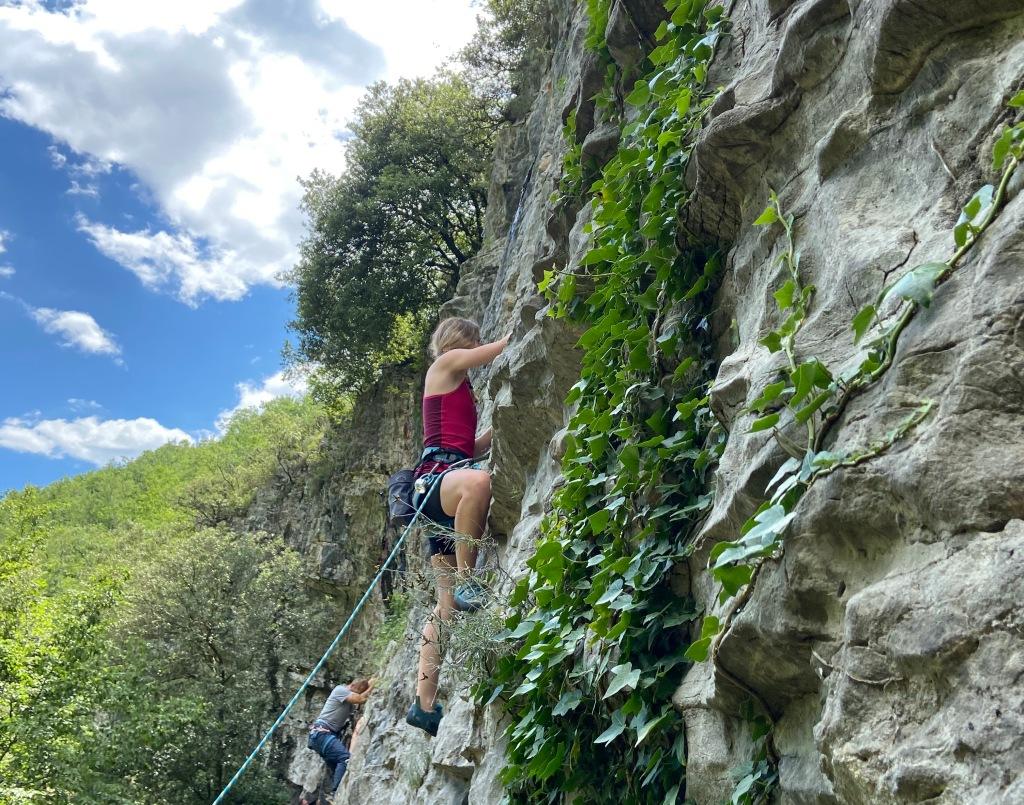 Crag Ciusa, climbing in Val Pennavaire, Albenga