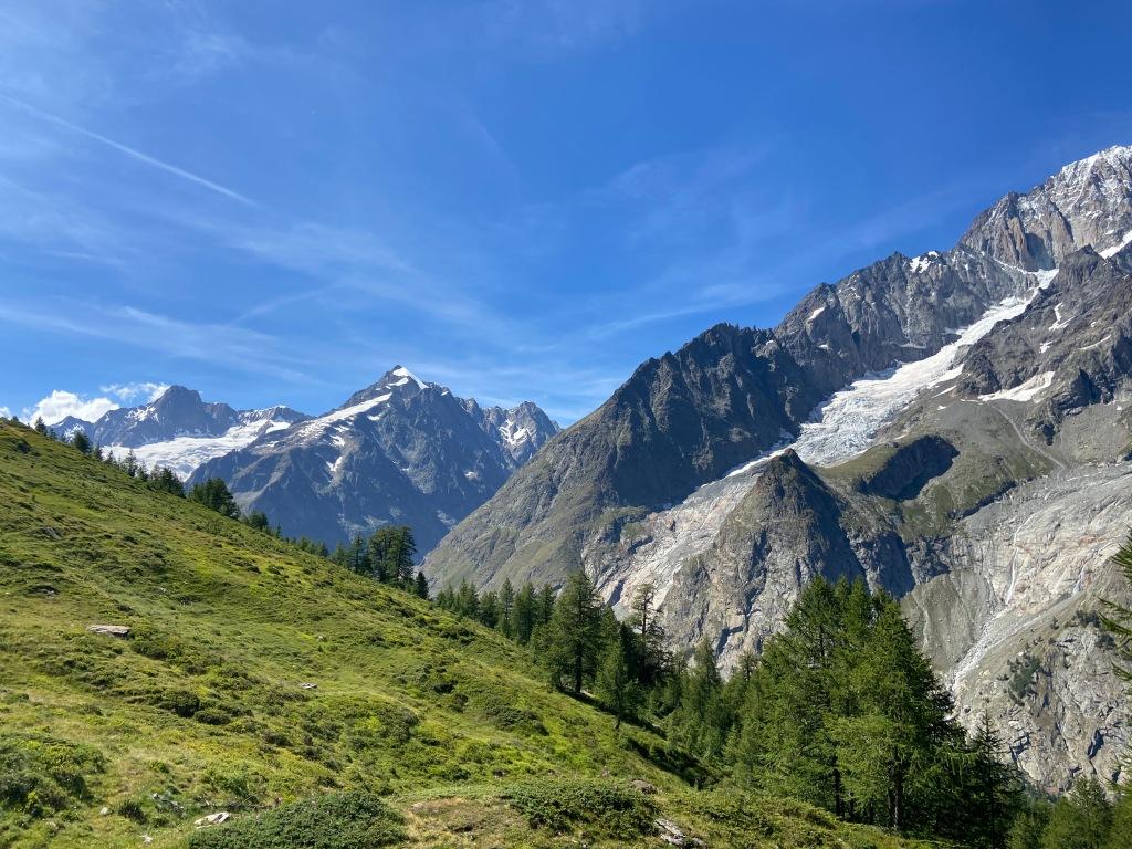 View on the Tour du Mont Blanc