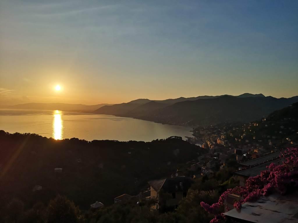 sunset over Camogli